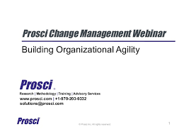 Organizational Ability Prosci Change Management Webinar Building Organizational Ability