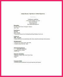 Resume High School Student Bio Letter Format