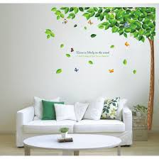 >green tree colorful butterfly vinyl wall art stickers wall decals  green tree colorful butterfly vinyl wall art stickers