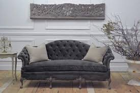 Good Grey Velvet Tufted Sofa 62 Home Kitchen Cabinets Ideas With  Grey Tufted Sofa E72