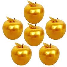 Lorigun <b>6 Pcs</b> Golden Apples Golden Fruit Crafts <b>Home Decoration</b> ...