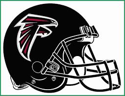 Atlanta Falcons Coloring Pages Great Pro Football Helmet Coloring