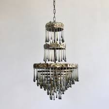 vintage smoked glass waterfall chandelier 3