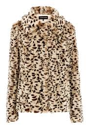miss selfridge leather effect panel faux fur coat warehouse leopard faux fur coat