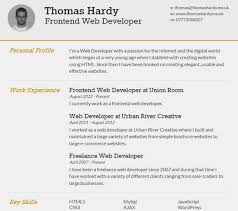Free Usable Resume Templates 25 Free Html Resume Templates For Your Successful Line For Html