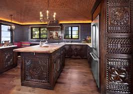 custom spanish style furniture. Completely Refaced Kitchen By Carved Custom Cabinets. There Are 3 Panel Styles Incorporated. Spanish Style Furniture