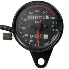 universal motorcycle dual odometer speedometer gauge led backlight detail image