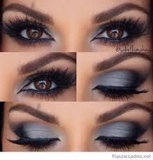 grey and black eye makeup inspiration