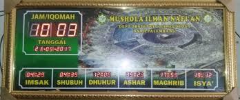 Jam Digital Masjid  di Tual