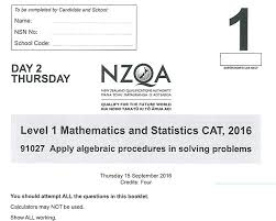 students at a high schools across new zealand took a recent ncea maths exam pictured