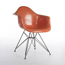 fiberglass shell chairs. herman miller vintage original eames orange fiberglass dar eiffel arm shell chair chairs b