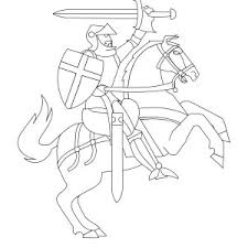 Knight Rearing o His Horse in Middle Ages Coloring Page 300x300 knight with sword in middle ages coloring page color luna on middle ages coloring pages