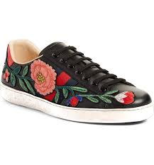 gucci shoes black and white. black rose white sole embroidery gucci sneakers gucci shoes and