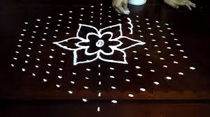 Simple Rangoli Designs With Dots 15 8 Simple Flowers Kolam Designs With 15 8 Middle Chukkala