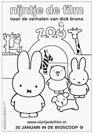 Baby Olifant Kleurplaat Schets S Kleurplaten Nijntje De Film