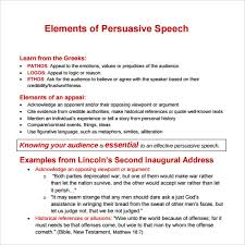 speech examples documents in pdf word persuasive speech template