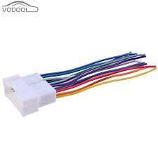 car stereo cd player wiring harness wire connect cable female car stereo wires color code at Connecting Wire Harness To Car Stereo