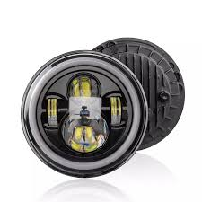 Đèn Pha Ô Tô Xe Máy 12V/24V Đèn LED Lái Xe Tròn 7 Inch Đèn Pha Phù Hợp Cho  Xe Jeep Wrangler 7 Inch, Tín Hiệu Rẽ Hoài Cổ