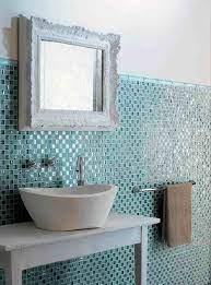glass mosaic tile badezimmer mit