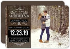 Winter Save The Date Cards Winter Save The Dates