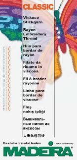 Madeira Embroidery Thread Colour Chart 100 430 Madeira Classic Rayon 40 60 30 12 Weight Color