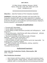Film Production Cover Letter Production Resume Cover Letter Beginner Fascinating Film Production Resume