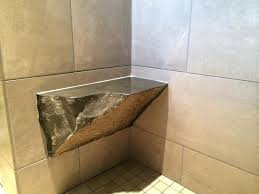 granite shower bench granite wall with corner stone shower bench and tile building seat in installing