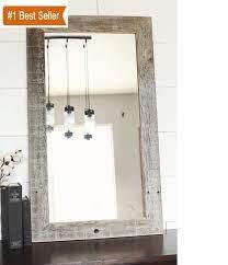 Rustic Mirrors Wood Metal Farmhouse Framed Mirrors