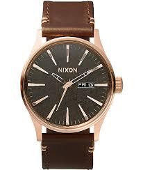 nixon watches get shipping at zumiez bp nixon sentry leather analog watch