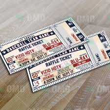 sports invites classic baseball raffle ticket template raffle ticket design 5 product 1