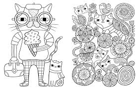 cats for coloring. Plain Coloring Amazoncom Posh Adult Coloring Book Cats U0026 Kittens For Comfort  Creativity Posh Books 9781449478735 Flora Chang Books To For H