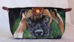 Hand Painted Boxer Cosmetic Bag <b>Portable Travel Makeup Bag</b>