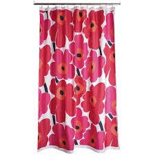 marimekko unikko shower curtain 180x200cm red 5 125 rub liked on polyvore