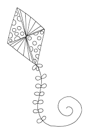 Small Picture Free Coloring Page Kite