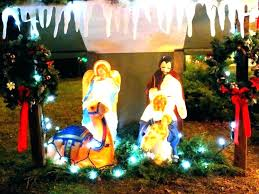 outdoor nativity scene set scenes by general foam plastics corp illuminated light up plastic lighted