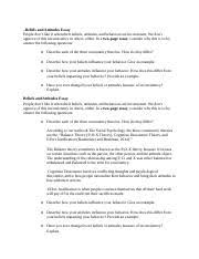 week essay beliefs and attitudes essay beliefs and attitudes  2 pages beliefs and attitudes essay
