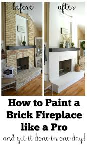 painting a fireplace whiteBest 25 Painted brick fireplaces ideas on Pinterest  Brick