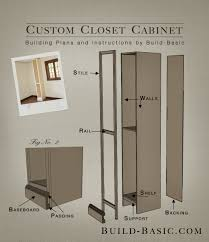 custom closet cabinet part of the build basic closet system building plans by
