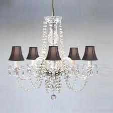 chandelier shades new best black shade lighting images on drum crystal pendant light singular black shade chandelier