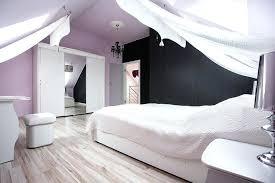 furniture for bedroom design. Purple Walls White Furniture Loft Bedroom With Light Black Accent Wall And Canopy Curtains For Design