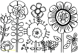 Flower Coloring Pages Printable Free Flowers Coloring Page With