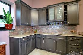 Painted Wood Kitchen Cabinets Kitchen Wonderful Painted Grey Kitchen Cabinet Ideas With White
