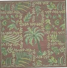 palm tree rug rugs bath set on charisma blue outdoor courtyard trees indoor round area