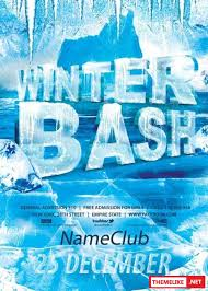 Winter Bash Psd V4 Flyer Template - All Design Template - Photoshop ...