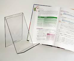 Plastic Paper Display Stand Impressive Clear Plastic Book Holders Displays PETG Book Displays