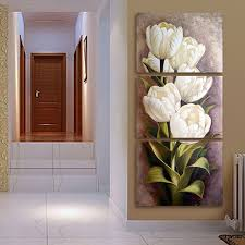 wall art paintings for living roomAliexpresscom  Buy 3 Piece Oil painting Living Room Modern Wall