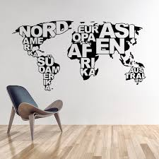 Small Picture Aliexpresscom Buy Art design World map vinyl wall sticker home