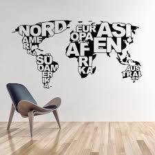 Small Picture Aliexpresscom Buy Art design World map vinyl wall sticker home