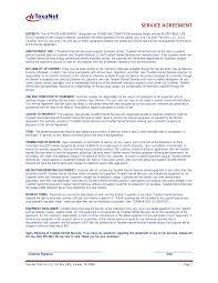 Service Agreement TexaNet Service Agreement 22