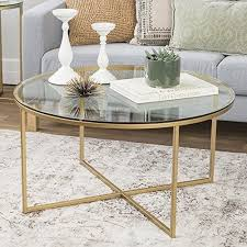 round industrial coffee table. Glass Round Metal Coffee Table Modern Accent Tempered Gold Frame Decor Furniture Industrial B